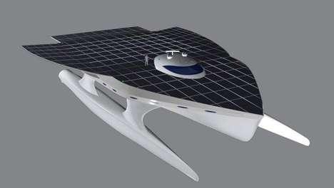 Giant Solar-Powered Catamarans