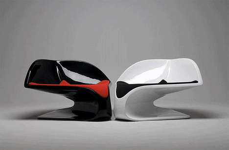 Sculptural Cantilever Seating