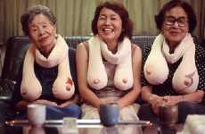 Saggy Boob Scarves - Slightly Naughty Scarf Ensures You're the Center of Attention