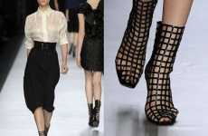 Caged Footwear - These Yves Saint Laurent Hot Catwalk Boots Are Captivating