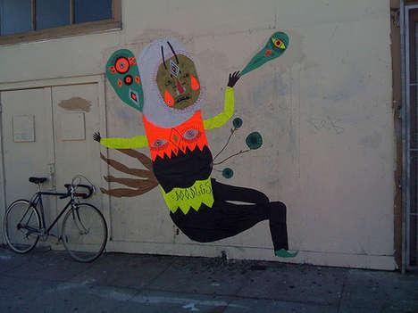 Quirky Doodled Street Art