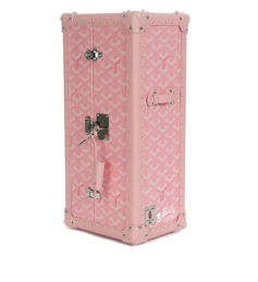 $3,650 Barbie Trunks - Goyard Pink Leather Trunk Lets You Store Your Barbie in Style