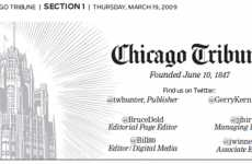 Twitter Media Takeovers - Chicago Tribune Masthead Now Features Twitter Usernames