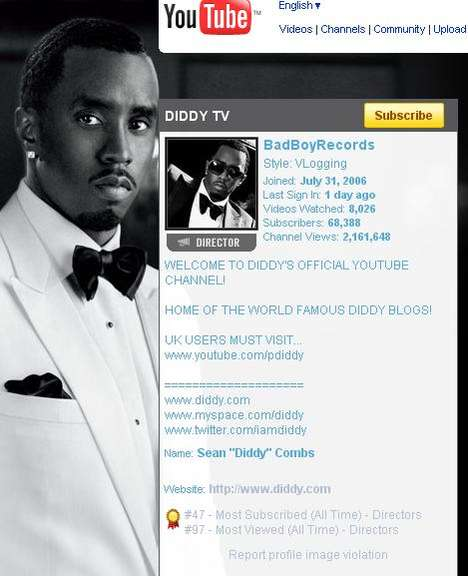 "Twitter-Fueled TV Launches - P. Diddy Leverages His 227,000 Followers for ""P. Twitty TV"""