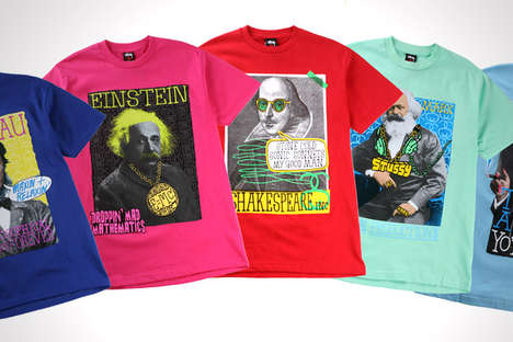 Stussy 'Great Minds' Series Gives Shakespeare & Freud An 80's Graffiti Mak