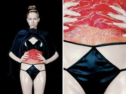 Models Wearing Raw Meat - Clayton Cubitt's 'Raw Flesh' Series Will Shock Vegans