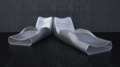 Perforated Sculptural Seating - 'Another Longchair' Reveals Attitude From Material Gap
