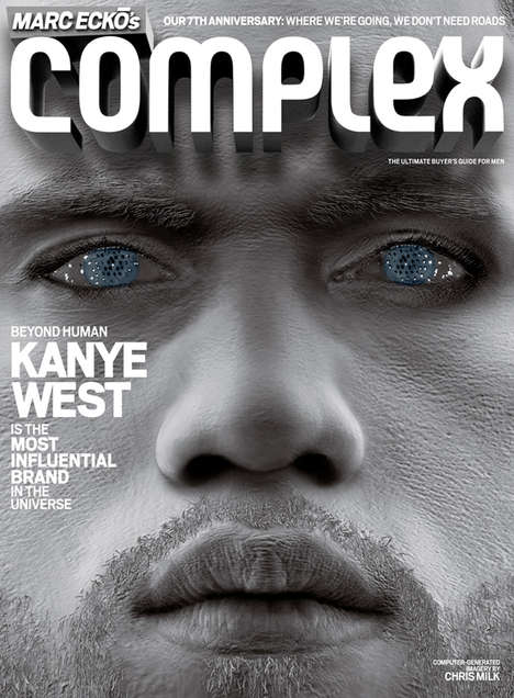 Cyborg Cover Shots - Chris Milk Shoots Kanye West Into the Future for Complex