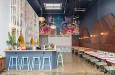 Tropical Warehouse Restaurants - Chicha Cafetin Was Made in a Converted Warehouse Garage