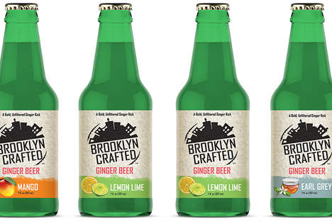 Flavored Ginger Beers - Brooklyn Crafted Mini Ginger Beer Comes in Unique Flavors Like Earl Grey