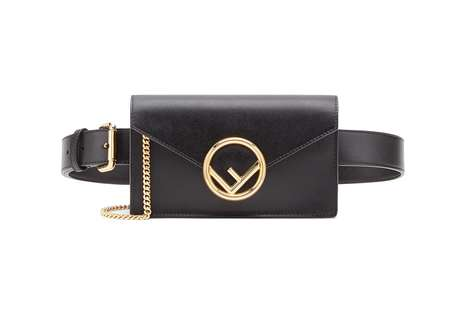 Luxe Hands-Free Purses - Fendi's New Leather Belt Bags Feature the Brand's Iconic Revamped Logo