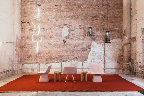 Industrial Modern Furniture Installations - Resident's First Showroom in New York Spans 3,000 Sq. Ft
