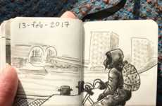 Multimedia Commuter Sketchbooks
