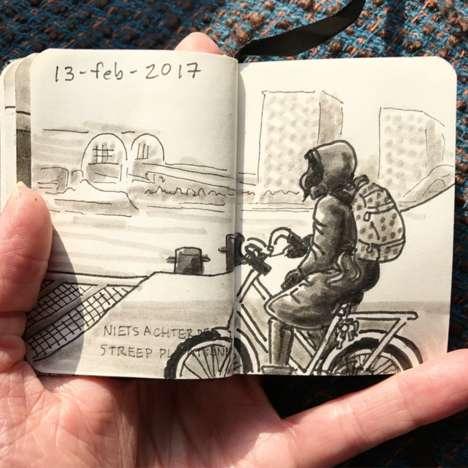 Multimedia Commuter Sketchbooks