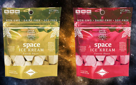 Freeze-Dried Vegan Ice Creams - The Seva Foods 'Space Ice Kream' is Completely Plant-Based