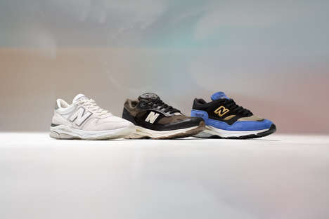 Unconventional Shoe Design Inspirations - New Balance Offers a 'Caviar & Vodka' Three-Pack