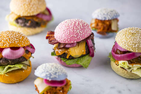 Vibrant Aesthetically Pleasing Burgers - Paternoster Chop House Offers Celebratory Beautiful Burgers