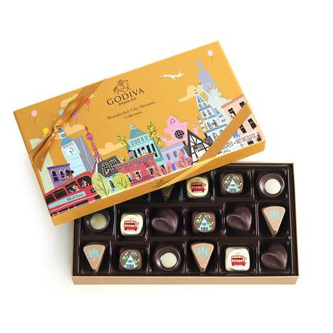 Globally Inspired Chocolate Boxes - This Godiva Chocolate Box Explores the Flavors of World Cities