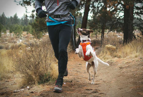 Handsfree Athlete Dog Leads - The Ruffwear Trail Runner System Keeps Fido by Your Side