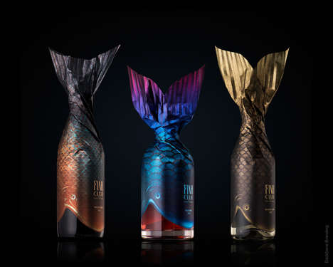 Fish-Inspired Wine Bottles - Fish Club Wine Uses Packaging to Explore Wine and Fish Pairings