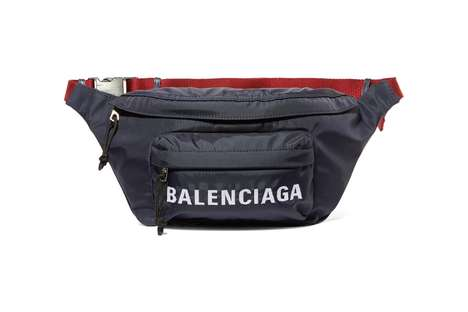 Luxe Navy Fannypacks - Balenciaga's Wheel Belt Bag is Made in Italy with a Durable Shell Material