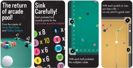 Brilliant Billiards Games - 'Pocket-Run Pool' is a Sleek Modern Version of Pool for Mobile