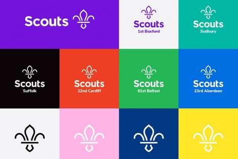 Redesigned Scout Logos - The UK Scout Association Rebrand Modernizes the Iconic Orginization