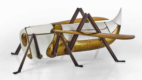 Grasshopper-Shaped Home Bars - François-Xavier Lalanne's Luxurious Home Bar is Unconventional