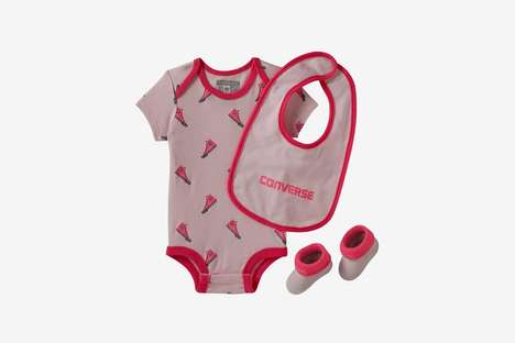 Sporty Three-Piece Baby Sets - Converse's New All-Star Bodysuit Set Offers Booties and a Bib