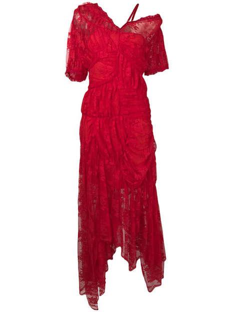 Ruffled Asymmetrical Dresses