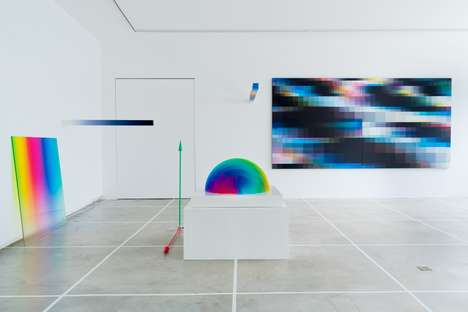 Dynamic Glitch Art Exhibitions - Felipe Pantone Derives Inspiration from Old and New Technology
