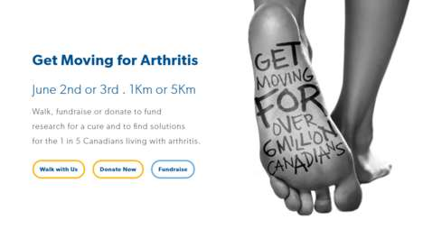 Arthritis Charity Walks - The Arthritis Society Will Host the Walk for Arthritis June 2nd and 3rd