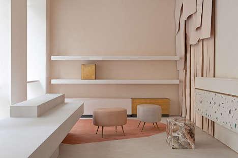 Atmospheric Pink Store Interiors