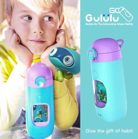 Encouraging Water Bottles - 'Gululu Go' Talks to Kids and Motivates Them to Drink Water