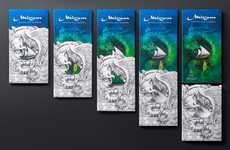 Storytelling Chocolate Wrappers - Mirzam Monsters' Packaging Layers Black, White & Colored Wrappers