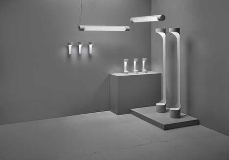 Gray-Toned Aluminum Tube Lighting