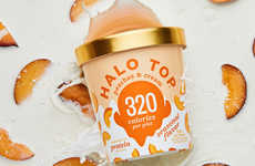 Low-Calorie Peach Ice Cream