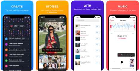 Story-Enhancing Social Tools - 'Storybeat' Adds Music to the Story Features on Social Media
