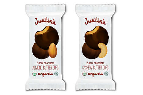 Alternative Nut Butter Cups - Justin's Launched Chocolate-Coated Almond and Cashew Butter Cups
