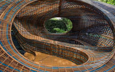 Swirling Amorphous Pavilions