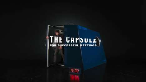 Intentionally Uncomfortable Meeting Rooms - 'The Capsule' by Diesel Aims to Minimize Wasted Time