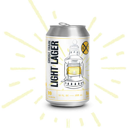 99-Calorie Lagers - Ghost Train Brewing Company Launched a 4% ABV 'Light Lager'