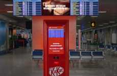 Delayed Flight Vending Machines - Kit-Kat's Airport Vending Machine Rewards Travelers with Candy