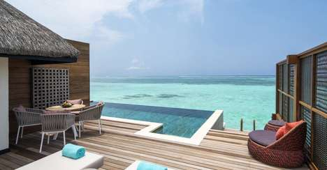 Luxury Oceanside Suites - The Four Seasons Maldives Recently Opened Three Luxury Tropical Suites