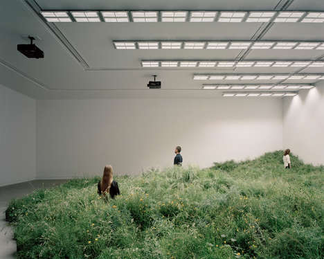 Grass-Inspired Indoor Pavilions