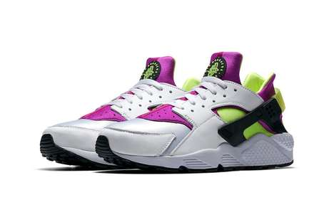 Retro Neon-Accented Sneakers