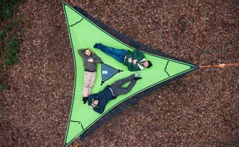 Triangular Three-Person Hammocks
