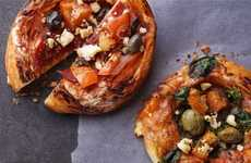 Artisan-Inspired Croissant Pizzas - The Starbucks Croissant Crust Pizzas are Available in Australia