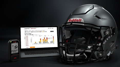Impact-Monitoring Football Helmets