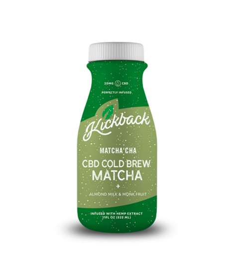 CBD-Infused Matcha Cold Brews - Kickback's Matcha CBD Cold Brew Boasts Monk Fruit and Almond Milk